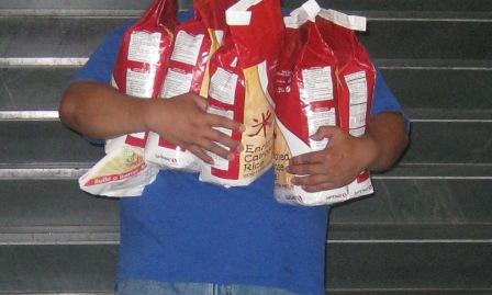 Five 10# bags of rice